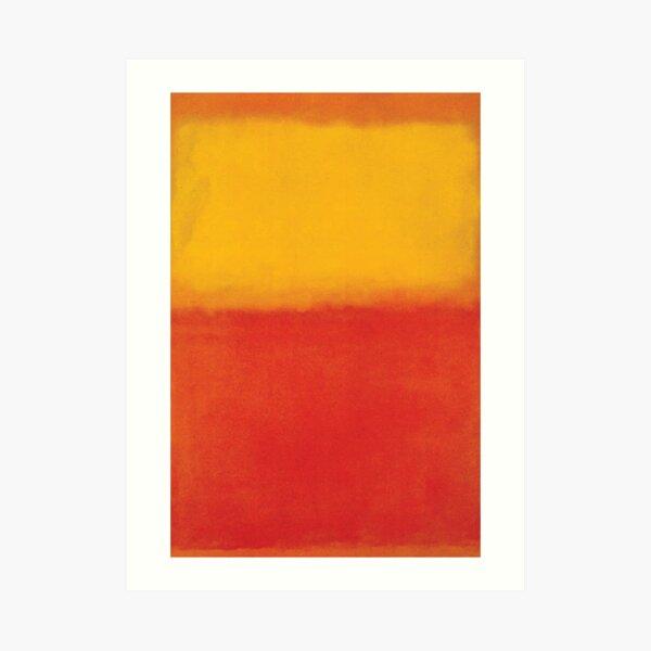 Mark Rothko | Orange und Gelb Kunstdruck
