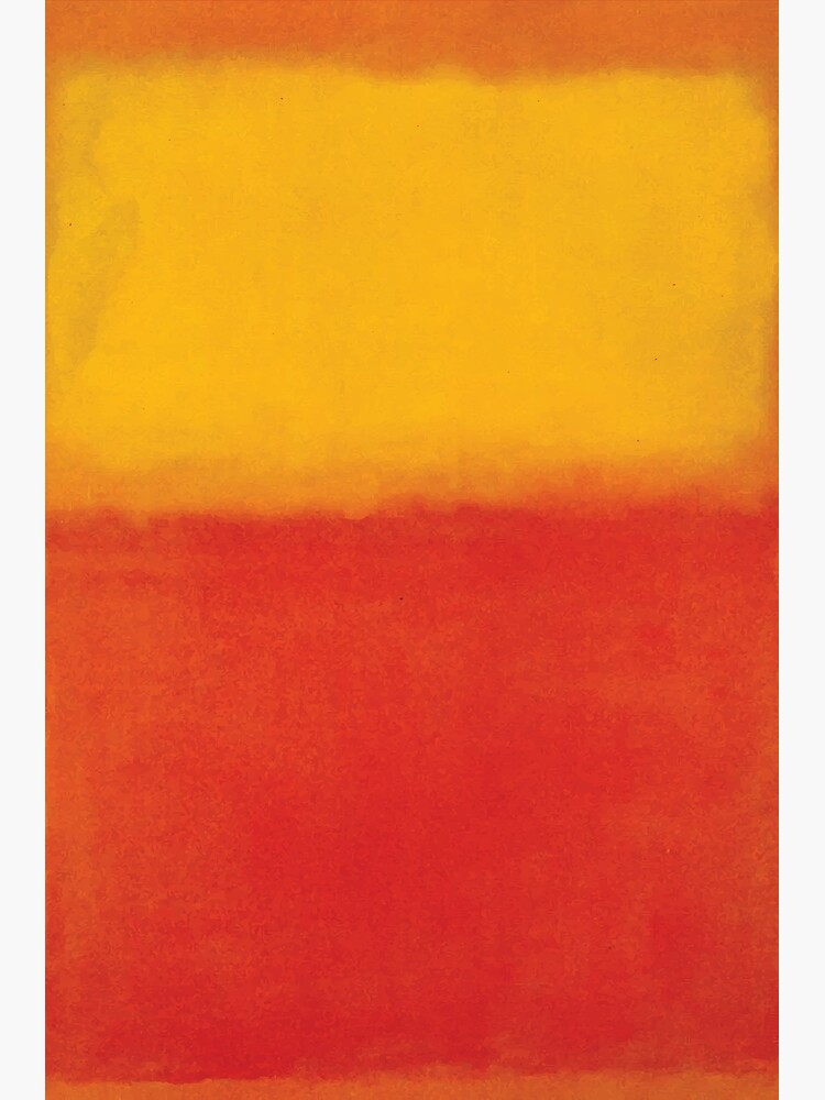 Mark Rothko | Orange and Yellow by badguyduh