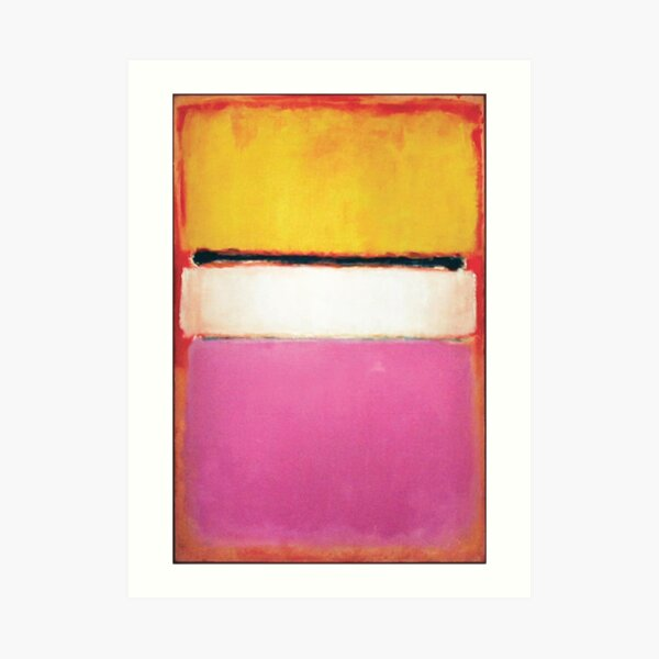 Mark Rothko | White Center (Yellow, Pink and Lavender on Rose) Art Print