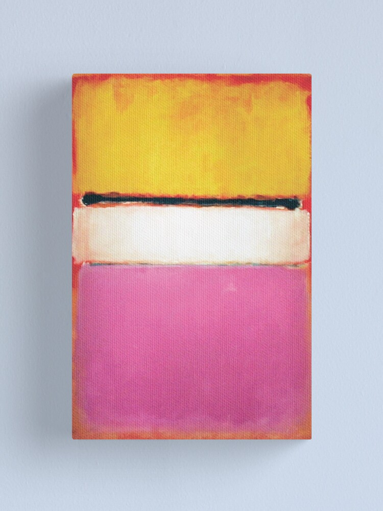 Alternate view of Mark Rothko   White Center (Yellow, Pink and Lavender on Rose) Canvas Print