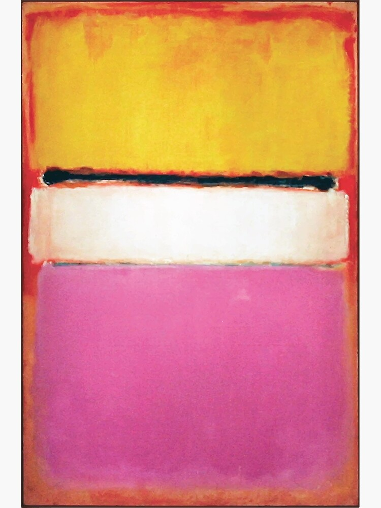 Mark Rothko   White Center (Yellow, Pink and Lavender on Rose) by badguyduh