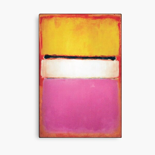 Mark Rothko | White Center (Yellow, Pink and Lavender on Rose) Canvas Print