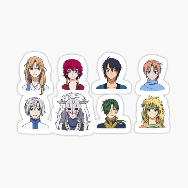 akatsuki no yona tous les personnages Sticker