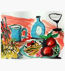 Ready to enjoy, watercolor Poster