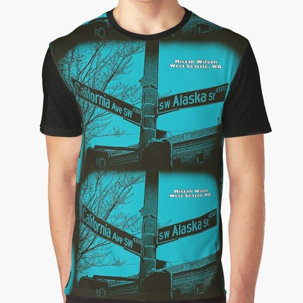 California Avenue SW & Alaska Street, West Seattle, WA by Mistah Wilson Graphic T-Shirt