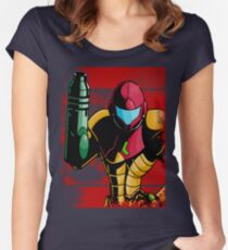 Samus Women's Fitted Scoop T-Shirt