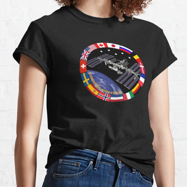 International Space Station Flags of Nations - ISS Classic T-Shirt