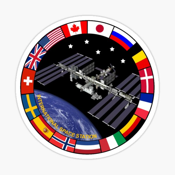 International Space Station Flags of Nations - ISS Sticker