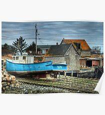 Port Maitland Fishing Boat Poster