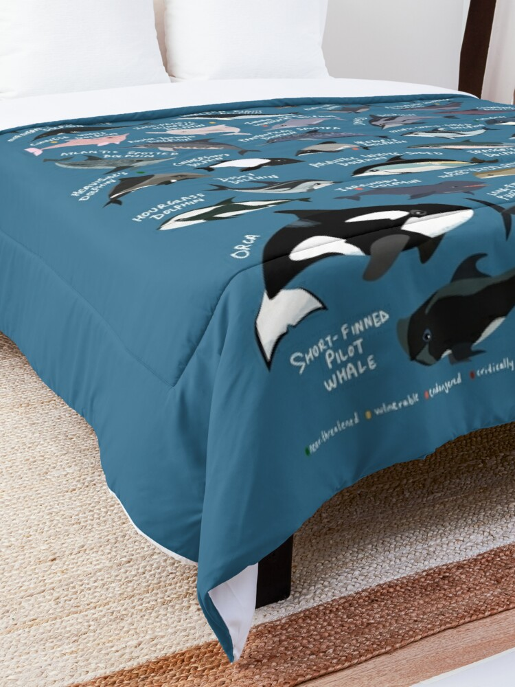 Alternate view of Dolphins of the World Comforter