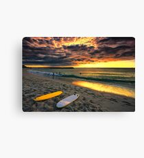 Last Glow of the Golden Sun Canvas Print