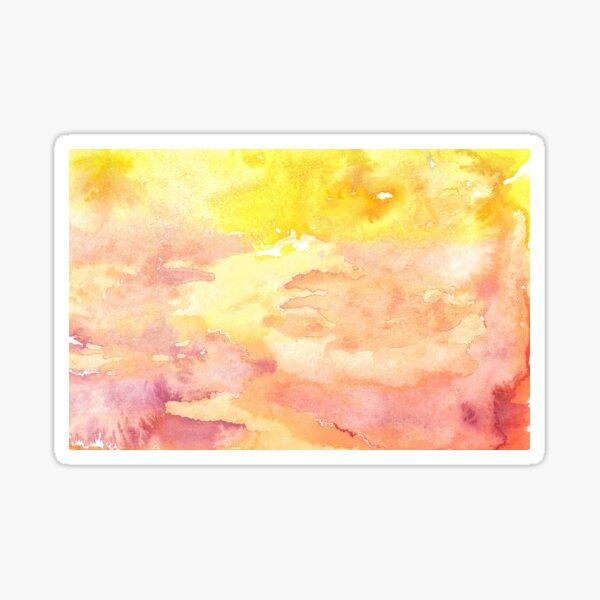 Handmade Watercolor Wash Yellow Pink Orange Sticker