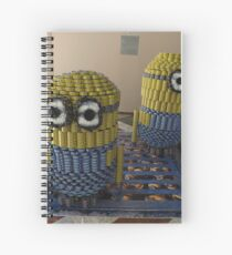 Canstruction, Sculpture Made of Food Cans, Minions, World Financial Center, New York City Spiral Notebook