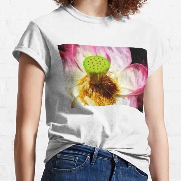 Pink Lotus Flower Art Classic T-Shirt