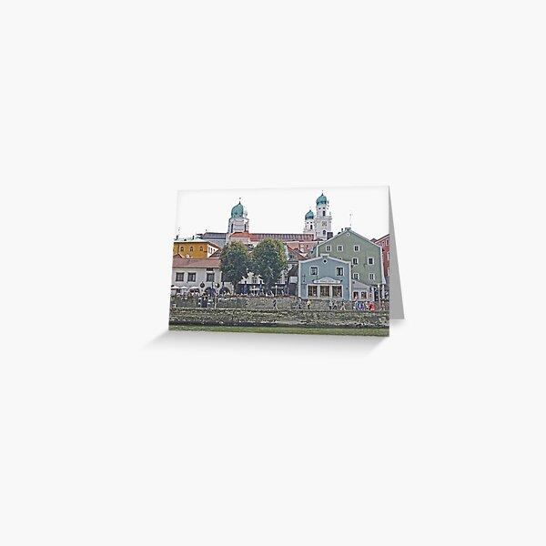 Engelhartszell waterfront, Austria Greeting Card