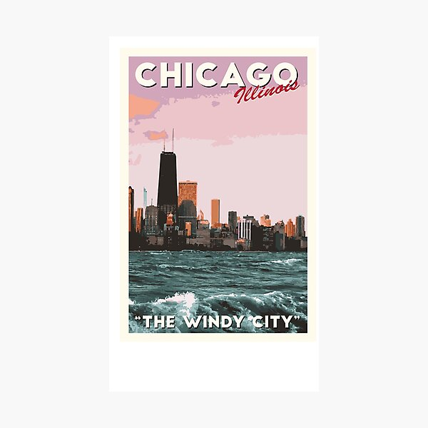 chicago travel poster  Photographic Print
