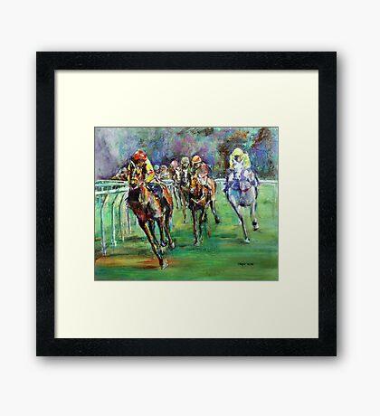 Racing Colours number 2 Framed Print