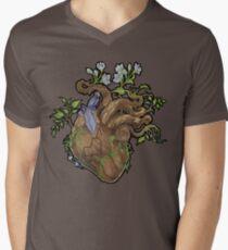 Heart - Wood Men's V-Neck T-Shirt