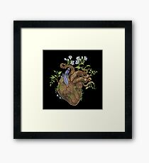 Heart - Wood Framed Print