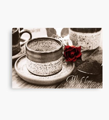 With Love Greetings Card Canvas Print