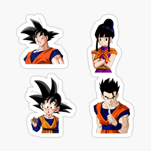 Goku Family Dragon Ball Z Set Sticker By Mykyaa Redbubble