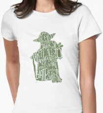 Fear is the Path to Darkside typography design Womens Fitted T-Shirt