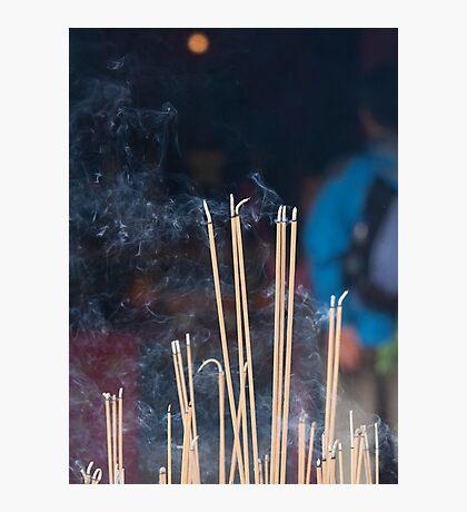 Tin Hau Temple, Shek O, Hong Kong - joss sticks Photographic Print