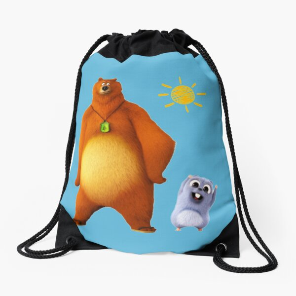 Grizzy and lemmings Drawstring Bag