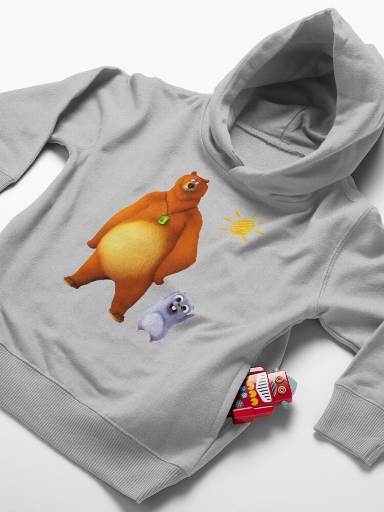 Alternate view of Grizzy and lemmings Toddler Pullover Hoodie
