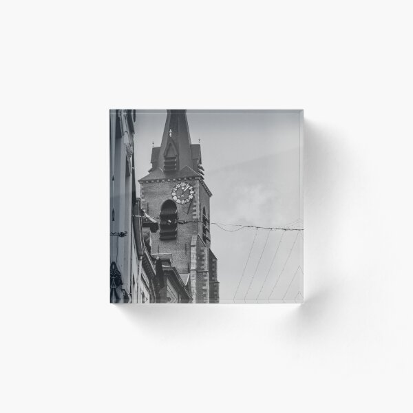 Belgian bell tower Acrylic Block