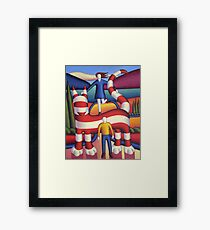 Genetic cat with lovers 2 Framed Print