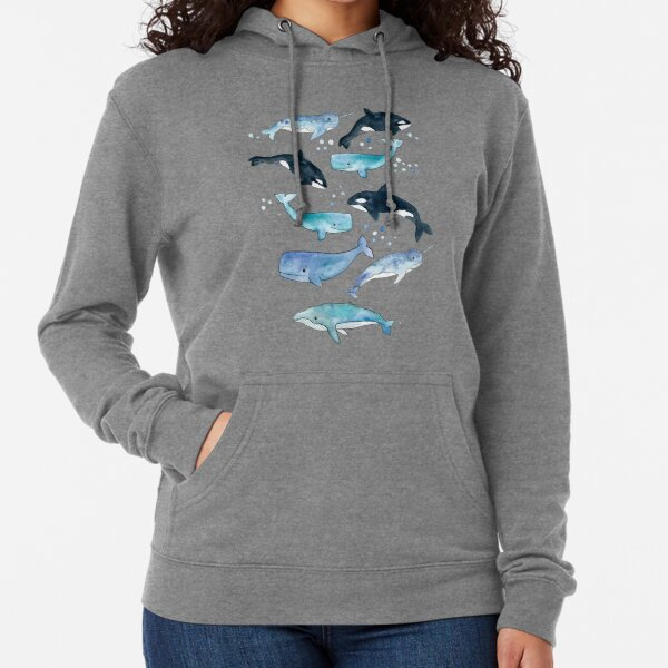 Whales, Orcas & Narwhals Lightweight Hoodie