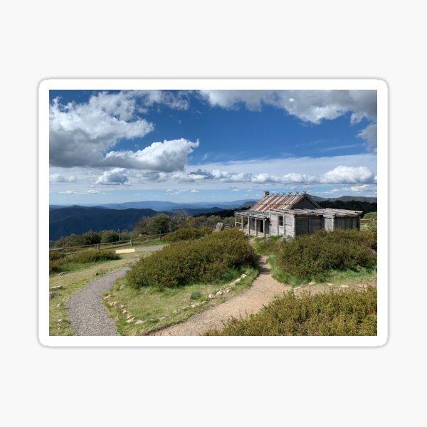 Craigs Hut, Mount Stirling, Victorian High Country, Victoria, Australia Sticker