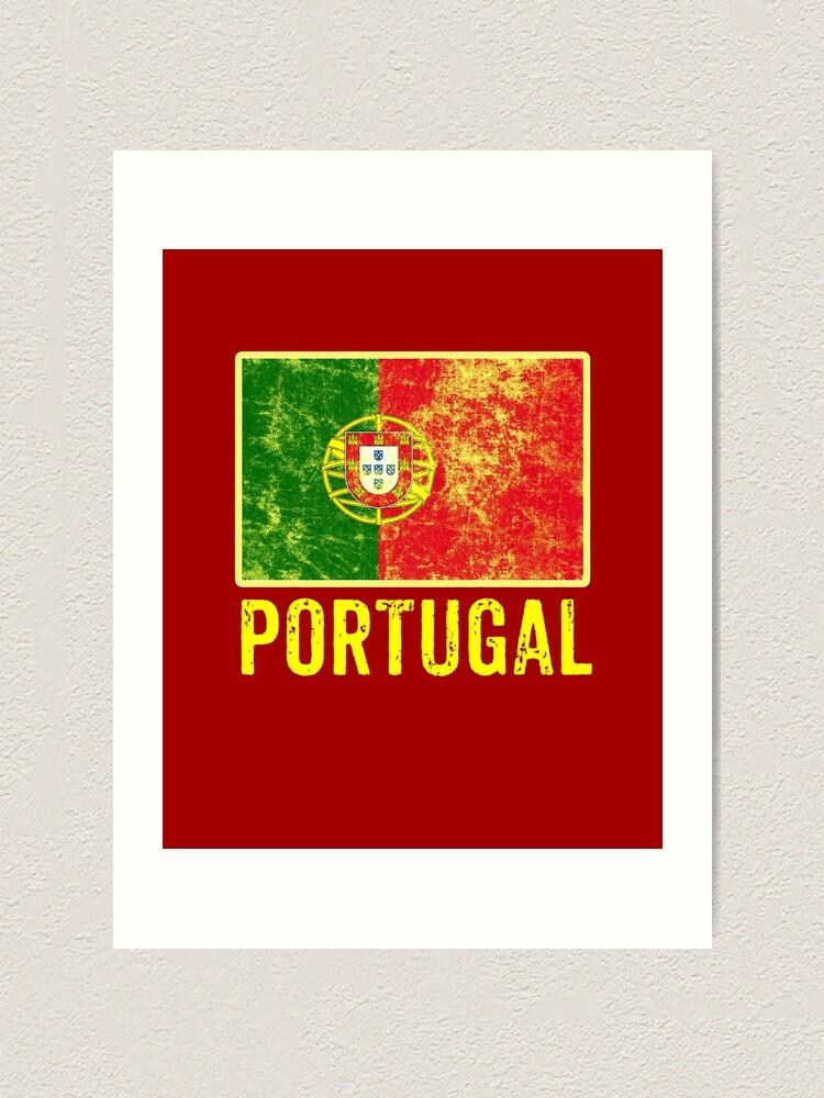 Alternate view of Portugal Flag Love Portuguese Pride Patriot Vintage Distressed Flag Design Art Print