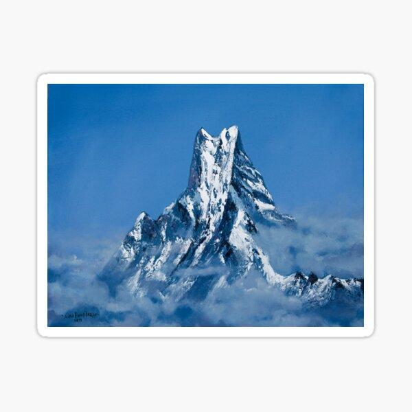 ANNAPURNA NEPAL - MOUNTAIN LANDSCAPE OIL PAINTING Sticker