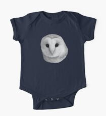 Curious Barn Owl (b&w) One Piece - Short Sleeve
