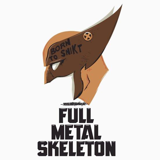 TShirtGifter presents: Full Metal Skeleton