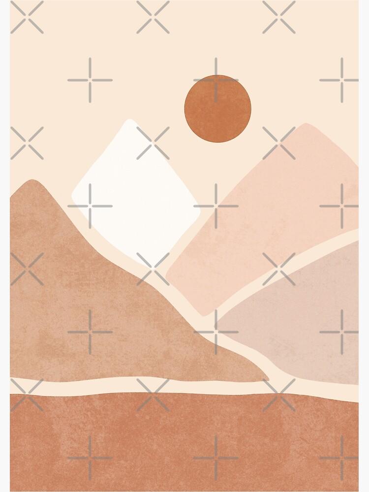 Neutral boho mountain sun by Miss-Belle