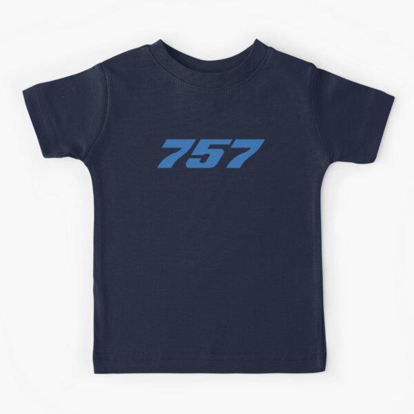 Boeing 757 (Blue, Horizontal) Kids T-Shirt