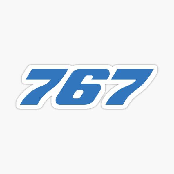 Boeing 767 (Blue, Horizontal) Sticker