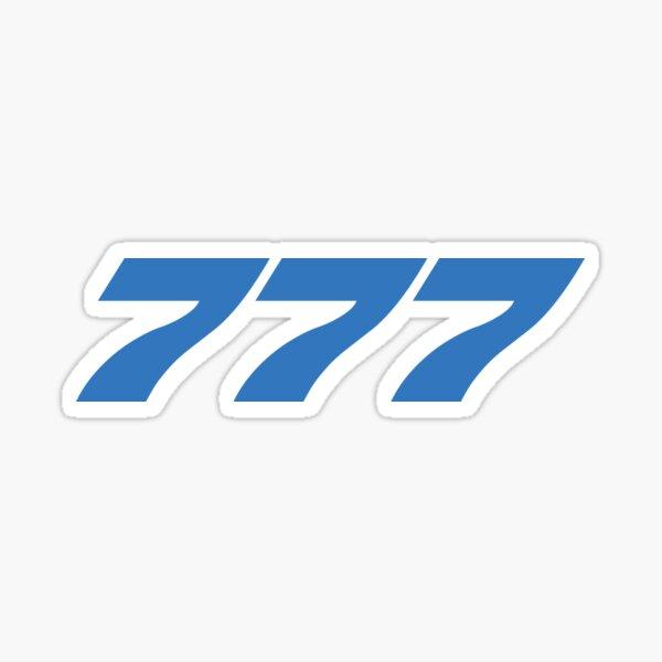 Boeing 777 (Blue, Horizontal) Sticker