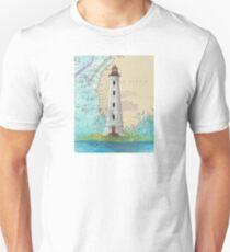 Cape Sable Lighthouse NS Canada Map Cathy Peek Art Unisex T-Shirt