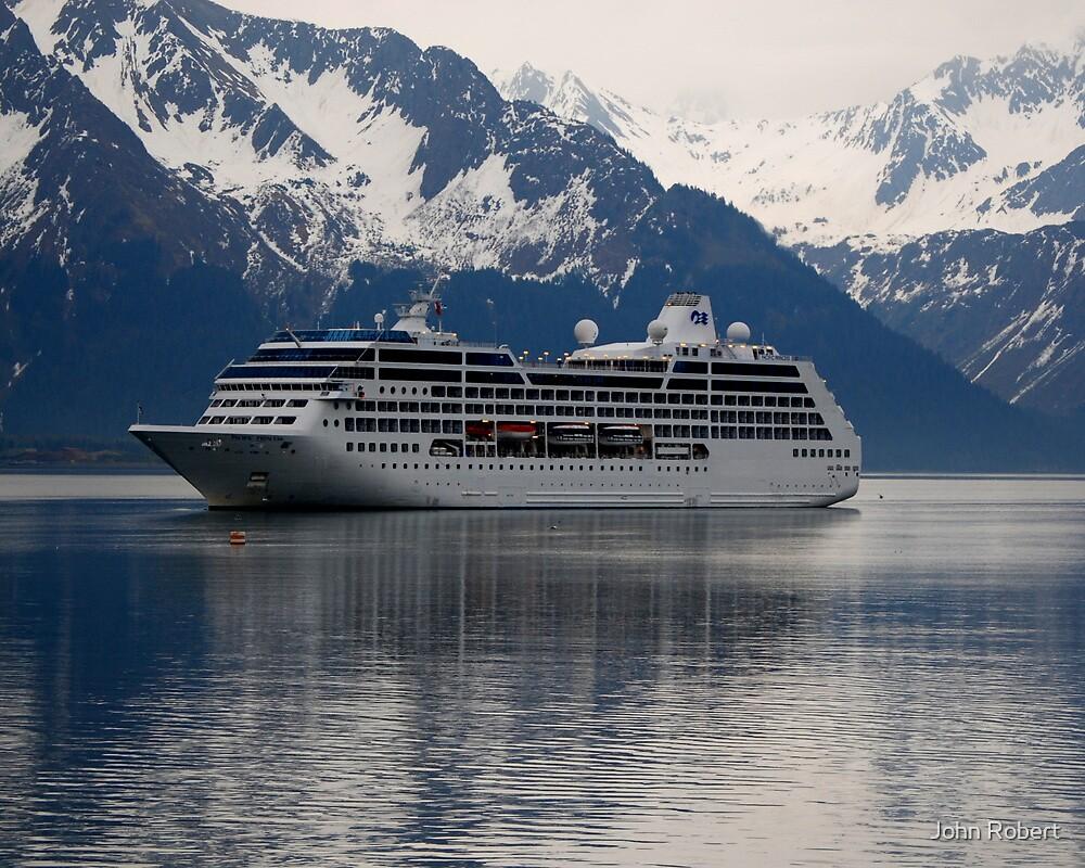 Seward Cruise Ship by Bob Moore