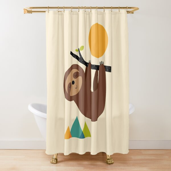 Keep Calm And Live Slow Shower Curtain