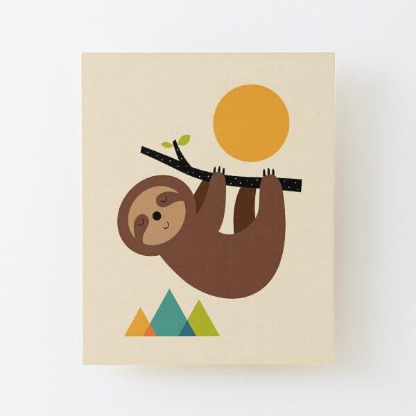 Keep Calm And Live Slow Wood Mounted Print