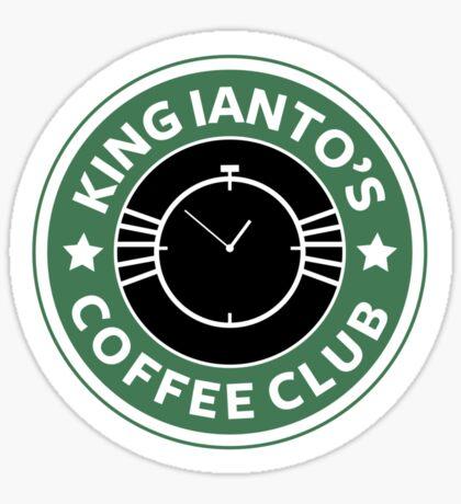 Ianto coffee club Sticker