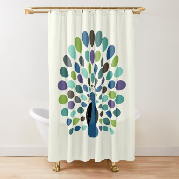 Peacock Time Shower Curtain