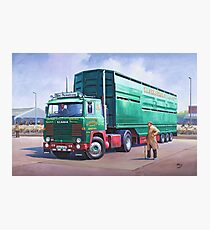Scania livestock wagon. Photographic Print