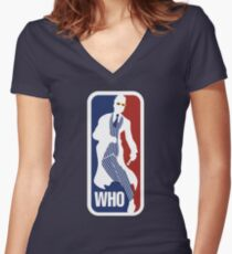 WHO Sport No.10 Women's Fitted V-Neck T-Shirt