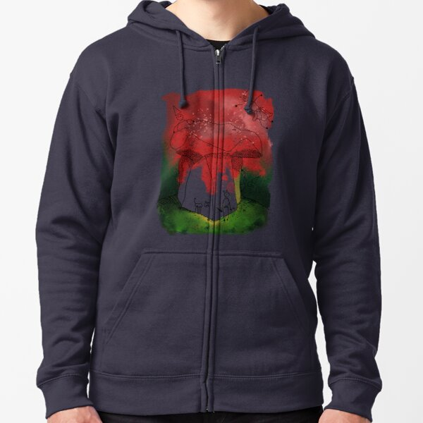 Witches at Arthurs Table Zipped Hoodie